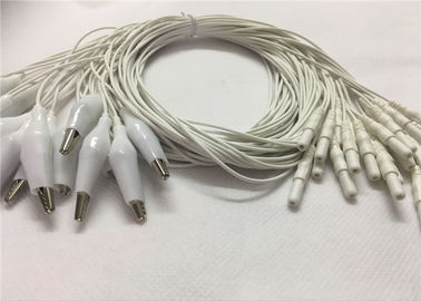 Art Eeg-Schalen-Elektroden-Kabel des Lärm-2,0, 1.2m Alligator-Eeg-Führungs-Kabel